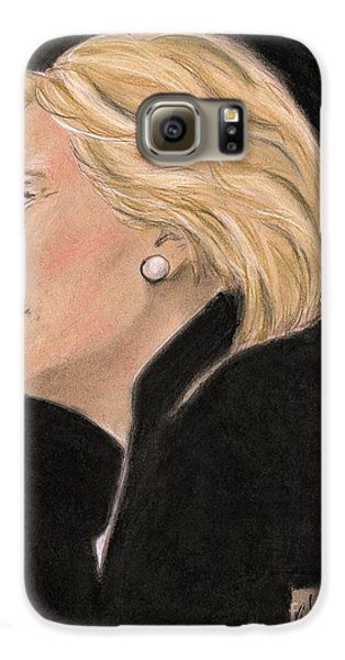 Madame President Galaxy S6 Case by P J Lewis