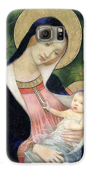 Madonna Of The Fir Tree Galaxy S6 Case by Marianne Stokes