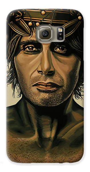 Doctor Galaxy S6 Case - Mads Mikkelsen Painting by Paul Meijering