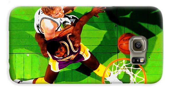 Magic And Bird Galaxy S6 Case by Brian Reaves