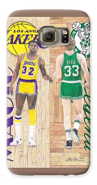 Magic Johnson And Larry Bird Galaxy S6 Case