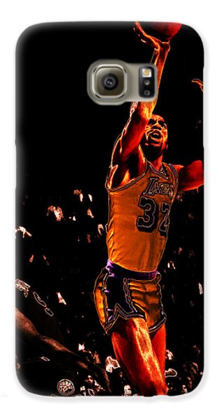 Magic Johnson Lean Back II Galaxy S6 Case by Brian Reaves