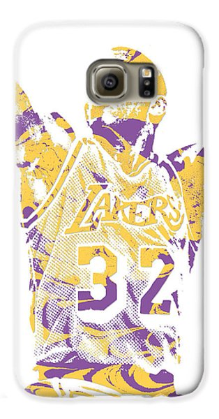 Magic Johnson Los Angeles Lakers Pixel Art 7 Galaxy S6 Case