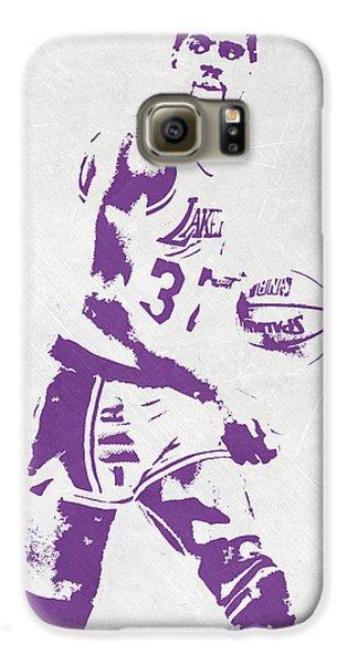 Magic Johnson Los Angeles Lakers Pixel Art Galaxy S6 Case by Joe Hamilton