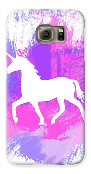Magician Galaxy S6 Case - Magic Unicorn 1- Art By Linda Woods by Linda Woods