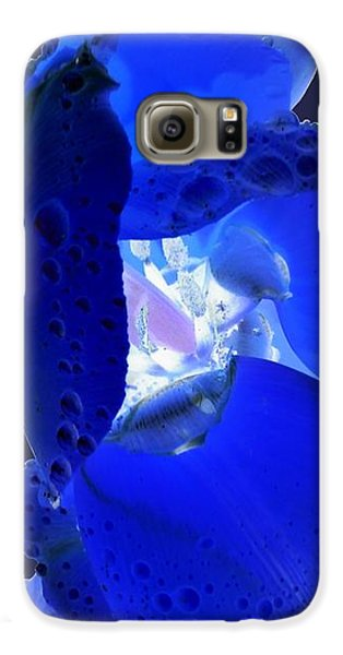 Galaxy S6 Case - Magical Flower I - Blue Velvet by Orphelia Aristal