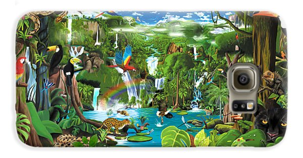 Toucan Galaxy S6 Case - Magnificent Rainforest by Gerald Newton