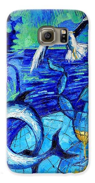 Majestic Bleu Galaxy S6 Case by Mona Edulesco