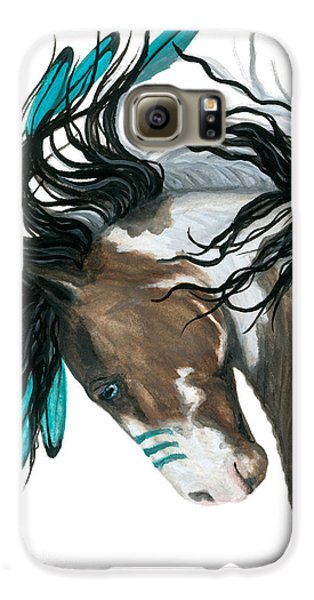 Horse Galaxy S6 Case - Majestic Turquoise Horse by AmyLyn Bihrle