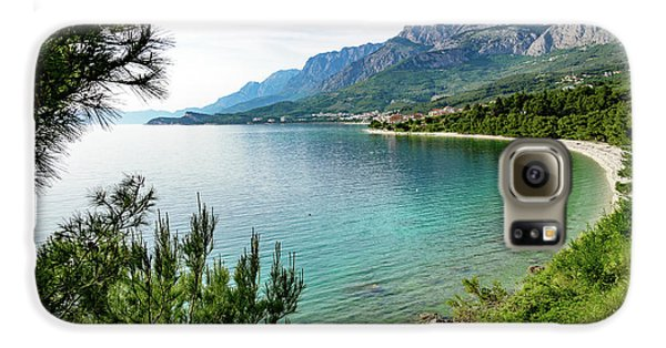 Makarska Riviera White Stone Beach, Dalmatian Coast, Croatia Galaxy S6 Case