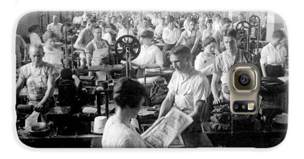 Washington D.c Galaxy S6 Case - Making Money At The Bureau Of Printing And Engraving - Washington Dc - C 1916 by International  Images