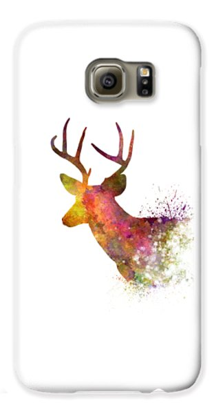 Male Deer 02 In Watercolor Galaxy S6 Case