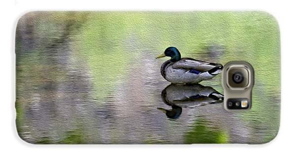 Galaxy S6 Case featuring the photograph Mallard In Mountain Water by Mark Myhaver