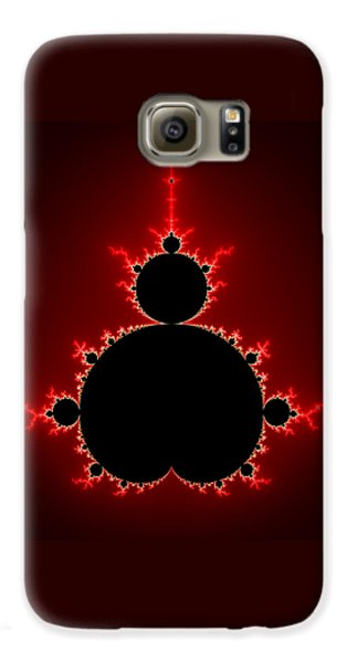 Mandelbrot Set Black And Red Square Format Galaxy S6 Case