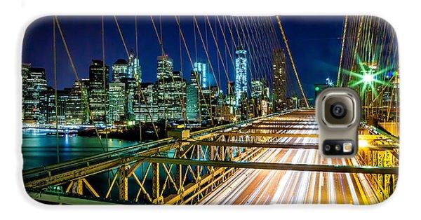 Brooklyn Bridge Galaxy S6 Case - Manhattan Bound by Az Jackson