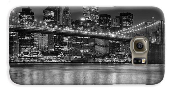 Manhattan Night Skyline Iv Galaxy S6 Case