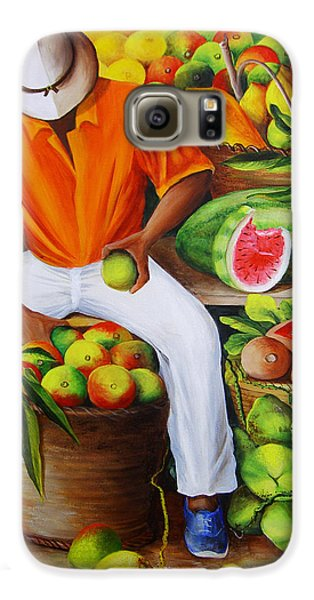 Manuel The Caribbean Fruit Vendor  Galaxy S6 Case