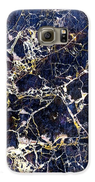 Marble Stone Texture Wall Tile Galaxy S6 Case by John Williams