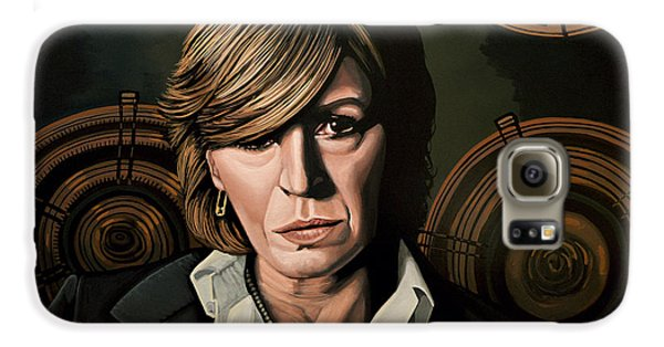 Marianne Faithfull Painting Galaxy S6 Case by Paul Meijering