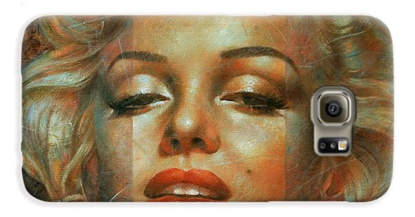 Marilyn Monroe Galaxy S6 Case by Arthur Braginsky