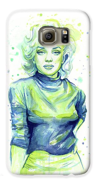 Marilyn Monroe Galaxy S6 Case by Olga Shvartsur