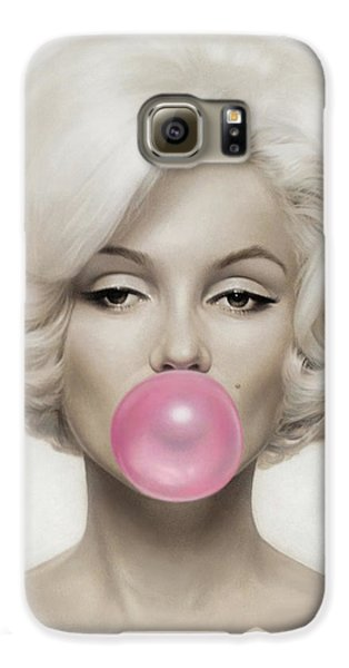 Marilyn Monroe Galaxy S6 Case by Vitor Costa