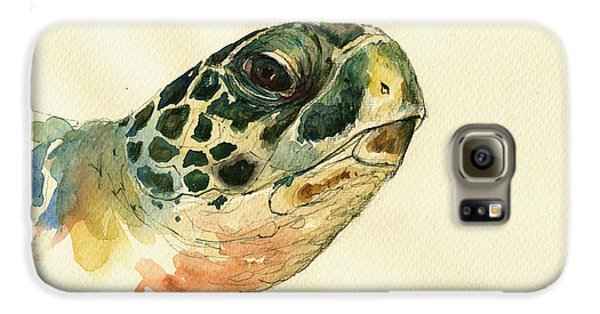 Reptiles Galaxy S6 Case - Marine Turtle by Juan  Bosco