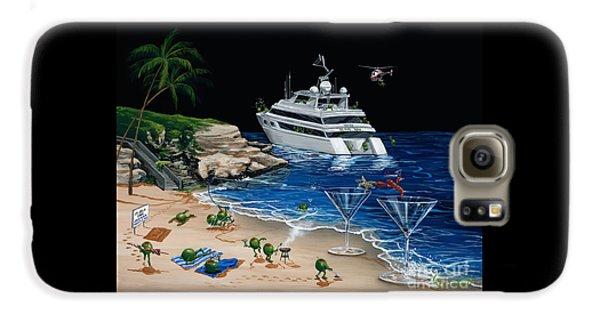 Martini Galaxy S6 Case - Martini Cove La Jolla by Michael Godard