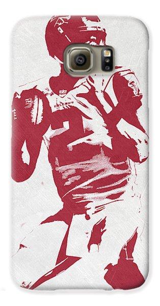 Matt Ryan Atlanta Falcons Pixel Art 2 Galaxy S6 Case by Joe Hamilton