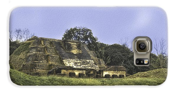 Mayan Ruins In Belize Galaxy S6 Case by Linda Constant