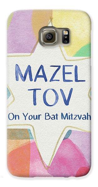 Bat Galaxy S6 Case - Mazel Tov On Your Bat Mitzvah- Art By Linda Woods by Linda Woods