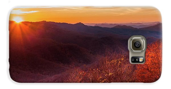 Mountain Sunset Galaxy S6 Case - Melody Of Autumn by Karen Wiles