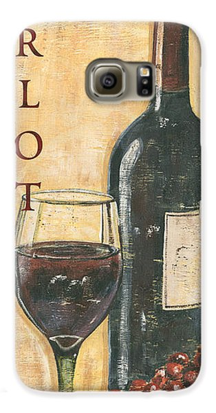 Merlot Wine And Grapes Galaxy S6 Case by Debbie DeWitt