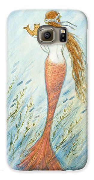Catfish Galaxy S6 Case - Mermaid And Her Catfish, Goldie by Tina Obrien