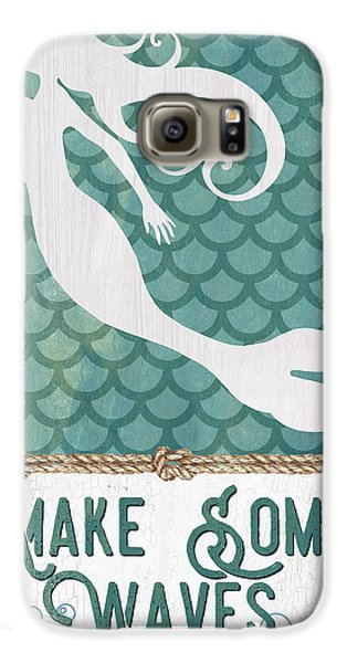 Extinct And Mythical Galaxy S6 Case - Mermaid Waves 1 by Debbie DeWitt