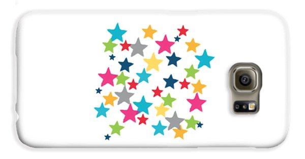 Messy Stars- Shirt Galaxy S6 Case by Linda Woods
