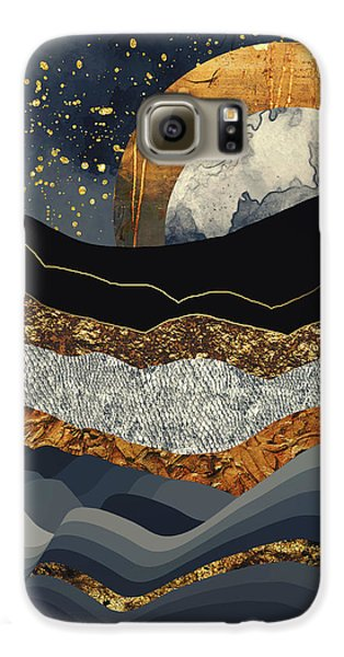 Landscapes Galaxy S6 Case - Metallic Mountains by Katherine Smit