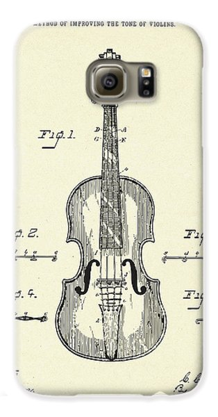 Violin Galaxy S6 Case - Method Of Improving The Tone Of Violins-1888 by Pablo Romero