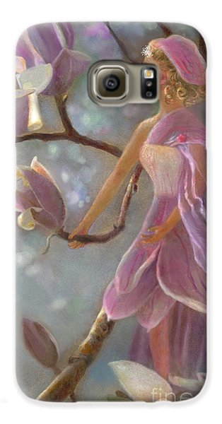 Galaxy S6 Case featuring the painting Mia Magnolia Fairy by Nancy Lee Moran
