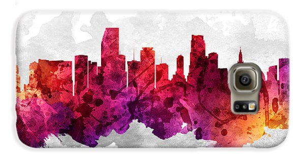 Miami Florida Cityscape 14 Galaxy S6 Case by Aged Pixel