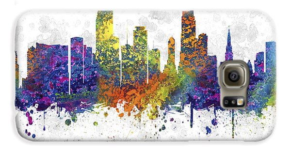 Miami Florida Skyline Color 03sq Galaxy S6 Case by Aged Pixel