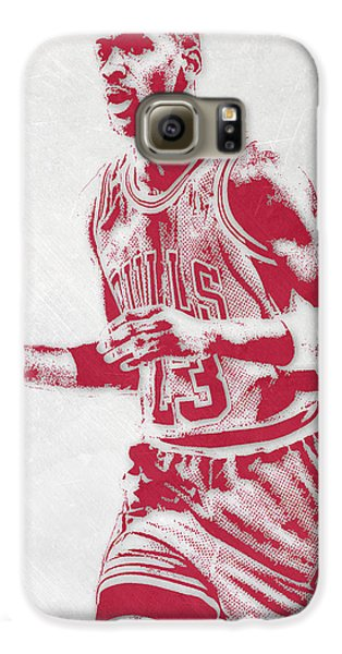 Michael Jordan Chicago Bulls Pixel Art 2 Galaxy S6 Case by Joe Hamilton