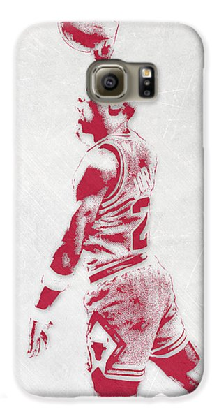 Michael Jordan Chicago Bulls Pixel Art 3 Galaxy S6 Case by Joe Hamilton