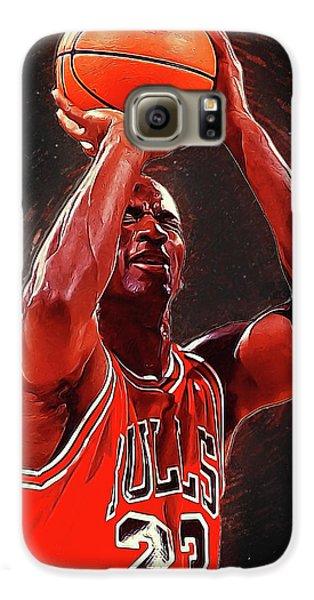 Larry Bird Galaxy S6 Case - Michael Jordan by Semih Yurdabak