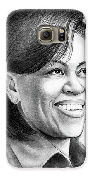 Michelle Obama Galaxy S6 Case by Greg Joens
