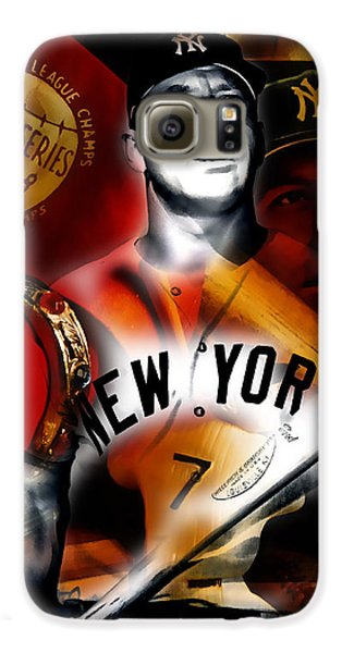 Mickey Mantle Collection Galaxy S6 Case by Marvin Blaine