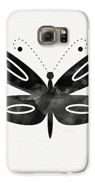 Midnight Butterfly 1- Art By Linda Woods Galaxy S6 Case by Linda Woods