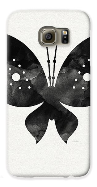 Midnight Butterfly 2- Art By Linda Woods Galaxy S6 Case by Linda Woods