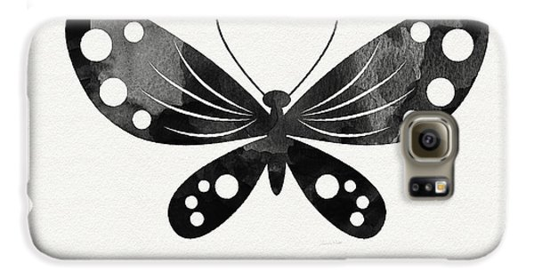 Midnight Butterfly 3- Art By Linda Woods Galaxy S6 Case by Linda Woods