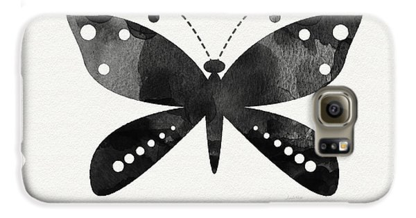 Midnight Butterfly 4- Art By Linda Woods Galaxy S6 Case by Linda Woods